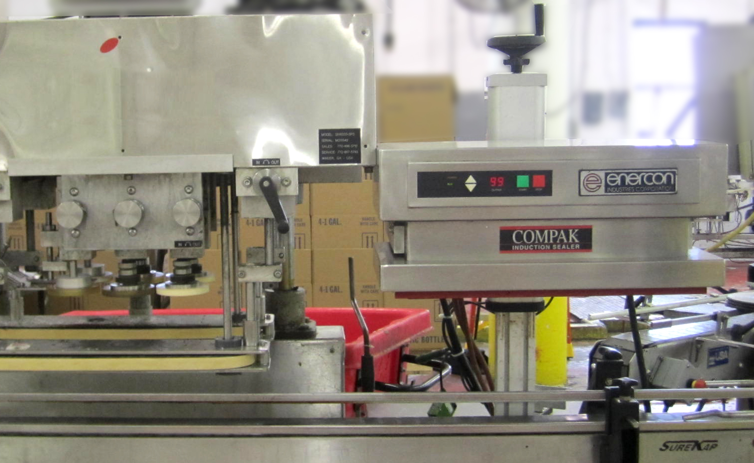 Lasco's Induction Seal Line - Enercon's Compak