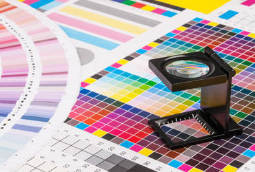 Color chart used in printing