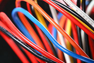 Plasma treated ink jet printed wires & cables.