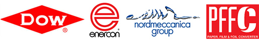 PFFC, Nordmeccanica, Dow & Enercon logos